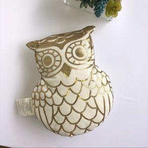 Owl pillow NWT